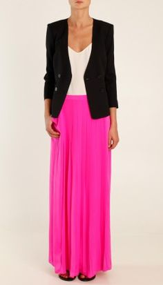 love the hot pink and black blazer