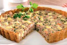 receita de torta de atum em lata Comidas Light, Meatloaf, Food And Drink, Cooking, Recipes, Quiches, Mary, Vegetarian Recipes, Tasty Food Recipes