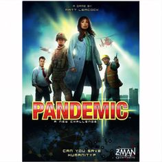 Pandemic is a cooperative board game for 1-4 players that simulates the fight against world wide plague.