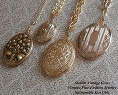 Vintage #Lockets ~ #Vintage #Jewelry #Fashion #Style ~ Starlite Vintage Gems