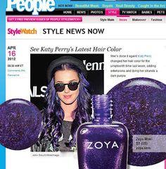 Katy Perry's new look matches Zoya Nail Polish in Mimi!