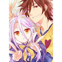 No Game No life ~ Shiro & Sora | No Game No Life | Pinterest ❤ liked on Polyvore featuring anime