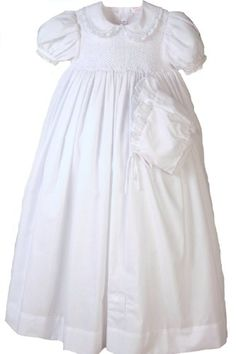 "32"" Smocked Gown with Slip and Bonnet - 12 Month Petit Ami http://www.amazon.com/dp/B004L7QW7S/ref=cm_sw_r_pi_dp_UVgmub164W5G6"