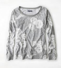 AEO Floral Print Sweatshirt