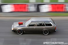 Just admit it, wagons are cool.  v8-powered Corolla DX wagon.