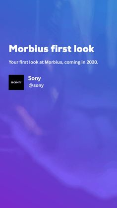 Morbius first look by Sony Movie Gifs, Sony