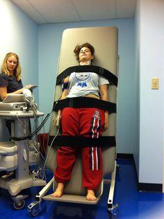 Tilt table test to diagnose a form of Dysautonomia- POTS -Posterior Orthostatic Tachycardia Syndrome.