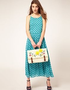 Enlarge ASOS Straw Satchel With Sunflowers