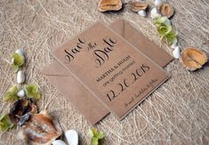 Save The Date Card by PaperStudioByC on Etsy
