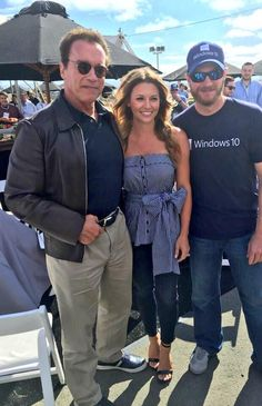 6-28-15 @ Sonoma Dale, Amy & Arrrrrnold! @Schwarzenegger @nascar @RaceSonoma pic.twitter.com/6NdjeSdeWZ