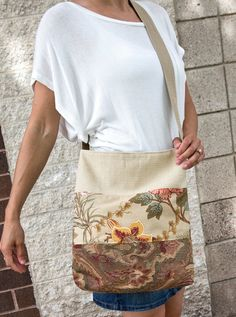 Large Tote Made from Upcycled Upholstery Samples by Lulu Bea
