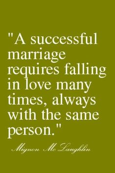 A Successful Marriage.......