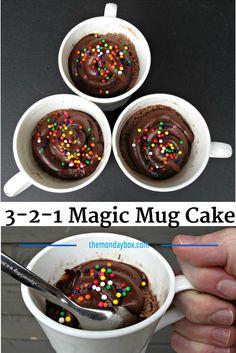 3-2-1 Magic Mug Cake