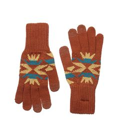 Copper Echo Peaks Jacquard Texting Gloves - Apparel & Accessories - National Cowboy Museum