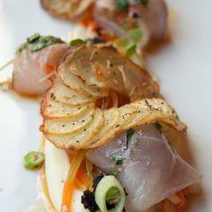 Cannelloni van zeebaars met gekonfijte aardappel en zomertruffel - Hap en Tap