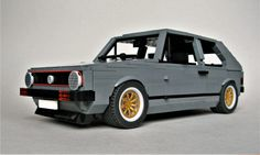 https://flic.kr/p/241Ftah | Golf GTi Mk1 | Yep I have built another one. This one has been on the shelf collecting dust for close to 2 years so I thought it was about time to dust it off and post it. All the usual stuff - opening doors and hood with detailed interior and reclining seats. The back seats fold down too. Hope you like it. Please also follow me on Instagram