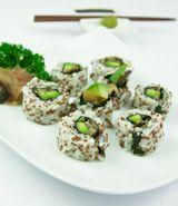 Rice & Red Quinoa California Roll (reverse sushi)