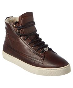 BURBERRY Burberry High Top Shearling Lined Leather Sneaker'. #burberry #shoes #loafers