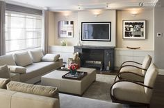 Living Small Room Ideas With Fireplace And Tv As