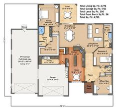 Sunset Harbor II Floorplan Garage Floor