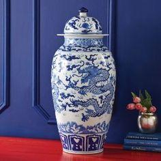 Long Dragon Temple Decorative Jar