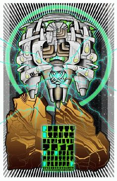 Original concert poster for Pretty Lights at Red Rocks in Morrison, CO in 2011.  11x17 card stock. Art by Mark Serlo.