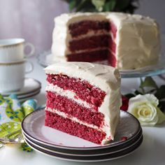 Red Velvet -kakku rakkaalleni/Red Velvet Cake for my loved one. Velvet Cake, Red Velvet, Takana, Marsala, Vanilla Cake, Tiramisu, Cooking Recipes, Ethnic Recipes, Desserts