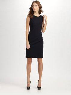 Boss Black Blue Dallasa Stretch Wool Sheath Dress