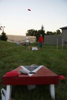 DIY Outdoor Lawn Games:  Ladder Golf, Bean Bag Toss, Giant Jenga, Kubb