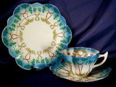 Wileman Snowdrop Art Nouveau Petunia trio