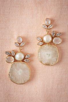 BHLDN Druzy Drop Earrings in Bride Bridal Shoes & Accessories Bridal Jewelry Earrings Bridal Accessories, Wedding Jewelry, Jewelry Box, Jewelry Accessories, Jewelry Design, Gold Jewelry, Jewelry Stores, Jewelry Rings, Wedding Shoes