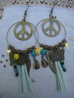 Aros Ttemporada Primavera-verano 2013 Wire Jewelry Patterns, Ideas Para, Diy Jewelry, Keys, Jewels, Boho, Earrings, How To Make, Jewelry Patterns