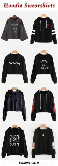hoodie sweatshirts 2017 - romwe.com