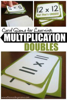 Card Game for Learning and Practicing Multiplication Doubles {FREE Printable Game!} | This Reading Mama