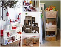 Llega el fin de semana y con él, un montón de ideas que puedes hacer con cajas de frutas recicladas... Hay tantas... ¿Cuál te gusta más?