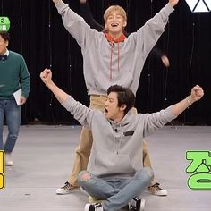 "EXO CHANYEOL 박찬열 di Instagram ""Omg haha 🤣  #보여줄게EXO 🎮 ⠀⠀ 'I'll Show You EXO - EXO Arcade' EP.3 on Vlive now"" Kyungsoo, Park Chanyeol, Exo Variety Shows, Exo Chen, I Fall In Love, Funny Cute, Korean, Kpop, Memes"