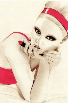 Lipstick art fashion illustration........TG