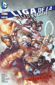 """""""Liga de la Justicia 7"""" (Geoff Johns, Doug Mahnke y otros, ECC)"""