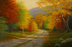 Changing Seasons. Charles H. White (born 1943) is Canadian landscape artist, lives and works in San Francisco, California.
