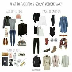 What to pack for a girls weekend trip