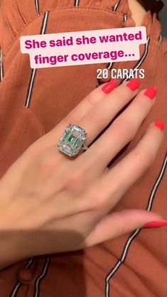 20 carats should cover her finger...Enjoy 5 Star diamond concierge service from one of the leading high jewelry industry experts in the world. Experience the new standard in ring shopping today! Visit our website to set up a diamond discovery call or to inquire about procuring your dream ring. #emeraldcut #emeraldcutdiamond #20carat #20carats #harrywinstonring #emeraldcutring #engagementrings #diamondring #emeraldcutdiamondring #emeralddiamond #emeraldcutengagementring #engagementring Luxury Engagement Rings, Emerald Cut Diamond Engagement Ring, Emerald Cut Rings, Emerald Cut Diamonds, Engagement Ring Cuts, Vintage Engagement Rings, High Jewelry, Body Jewelry, Colored Diamond Rings