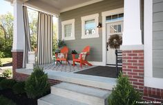 Front Porch Glider with Craftsman Porch - : Home Furniture Style ...