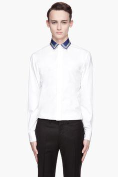 ALEXANDER MCQUEEN White contrast collar poplin Shirt