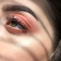 @evatornado peach eye makeup