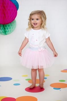 Designer baby girl clothing - Bebe Olivia Tulle Layer Skirt - $39.95 - Divine lolly pink tulle skirt from the Olivia range by Bebe!  This stunning little baby girls skirt features tulle layers and adorable bow at waist!  Material:  100% Polyester Tulle / 100% Cotton Poplin. Designer baby girl clothing - Bebe