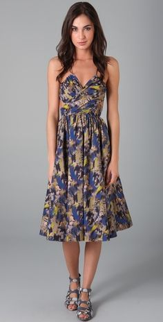 I feel like I should be frolicking around in Paris wearing this dress...both quite unattainable at the moment.