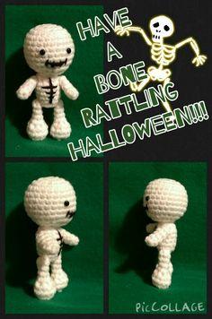 Crochet Amigurumi skeleton