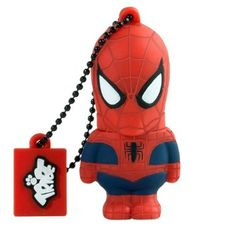 Tribe Marvel The Avengers Pendrive - Memoria USB Flash Drive 2.0 con llavero (de goma, 8 GB), diseño Spiderman