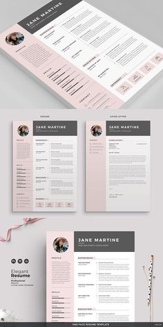 Resume Template 3 page  CV Template  Cover Letter