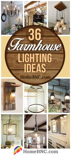 Kitchen Lighting Ideas Farmhouse Lighting Decor Ideas - Farmhouse lighting idea's great choice to pull together an eclectic collection or to add unexpected warmth to minimalist or modern schemes. Find the best designs! Farmhouse Track Lighting, Farmhouse Lamps, Farmhouse Light Fixtures, Country Farmhouse Decor, Farmhouse Design, Rustic Decor, Farmhouse Style, Farmhouse Ideas, Rustic Style